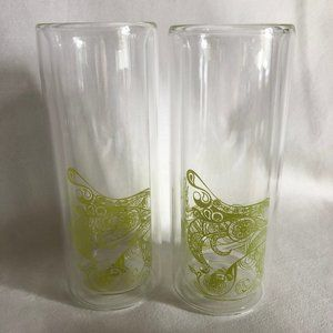 2 Double Wall Insulated Tall Glasses / Tumblers